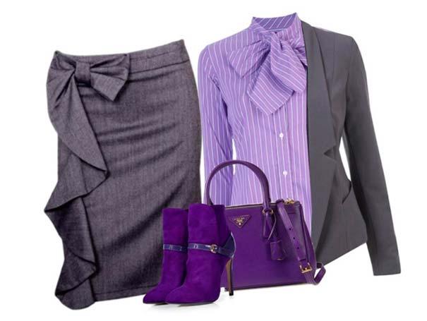 серый с фиолетовым