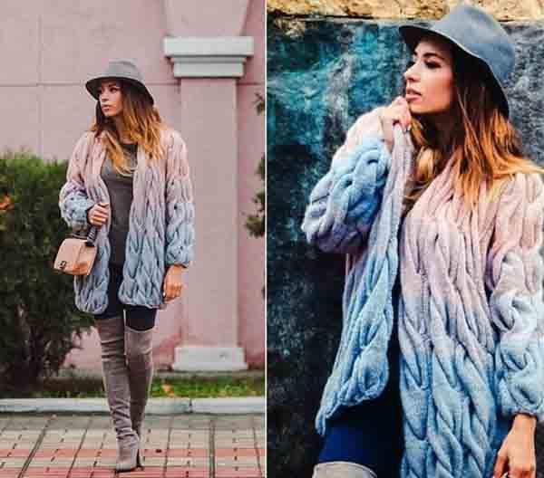 кардиганы 2019 модные тенденции фото вязанные спицами со схемами