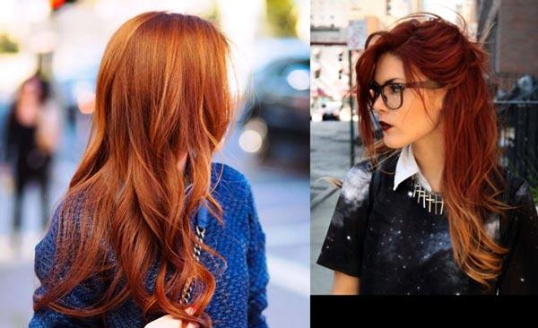 Рыжие цвета волос техники